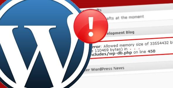 Aumentar la memoria límite de php en wordpress 40Mb a 64Mb o más